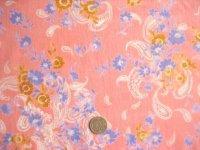 コーディロイプリント織物(花柄&ペーズリー柄)